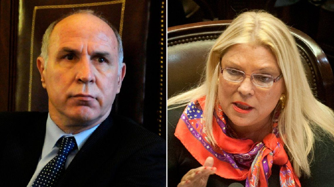 Ricardo Lorenzetti y Elisa Carrio