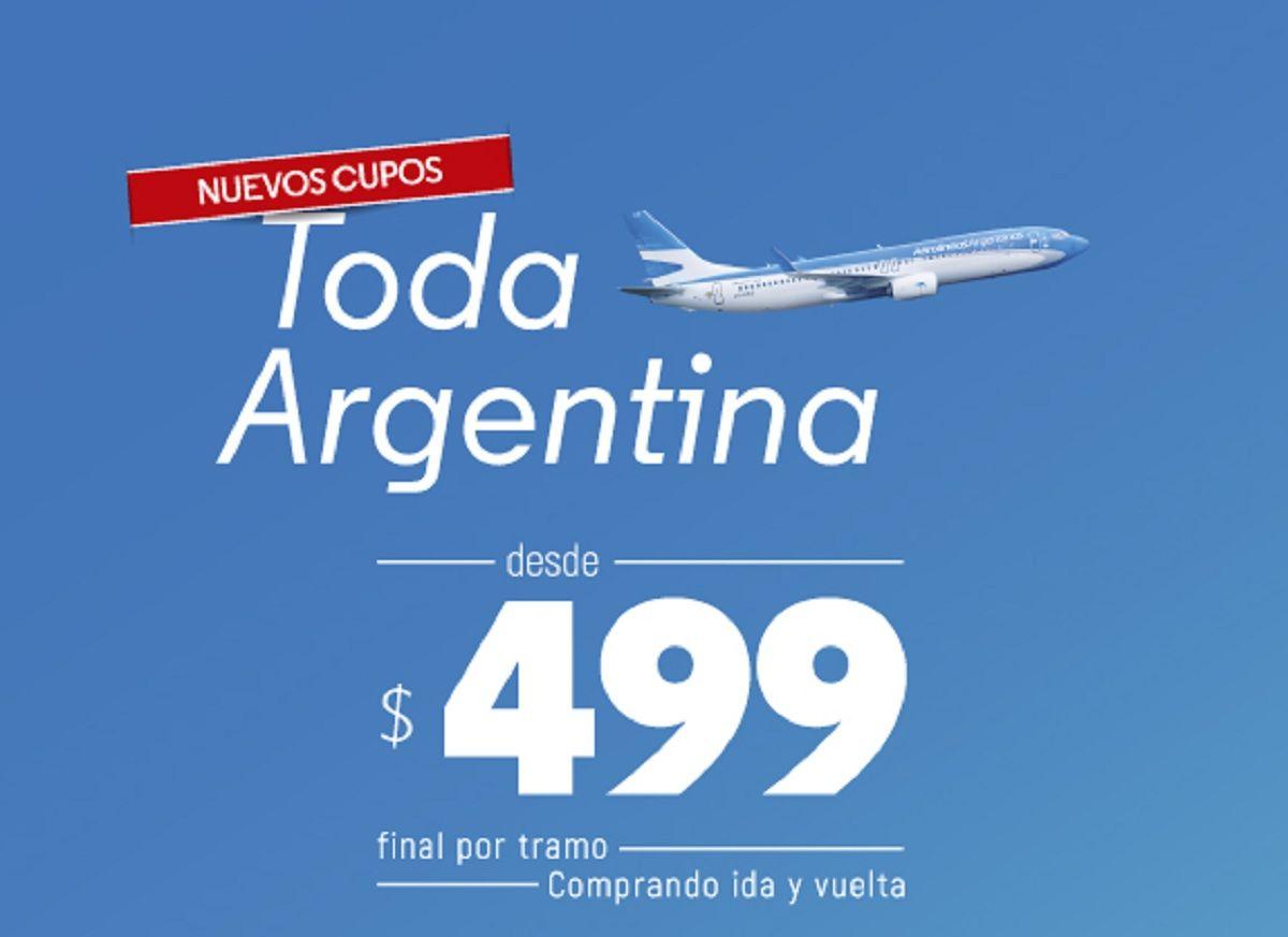 Volvieron los vuelos low cost de Aerolíneas Argentinas: descuentos de hasta el 50%