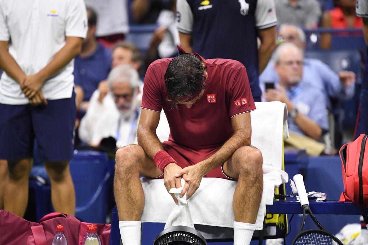 Roger Federer abatido