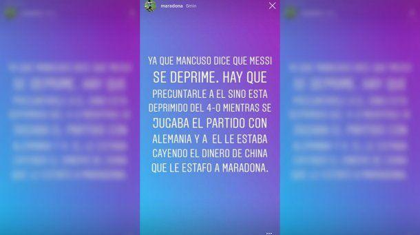 Maradona destrozó a Mancuso<br>