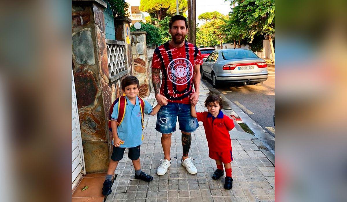 Leo junto a Thiago y Mateo