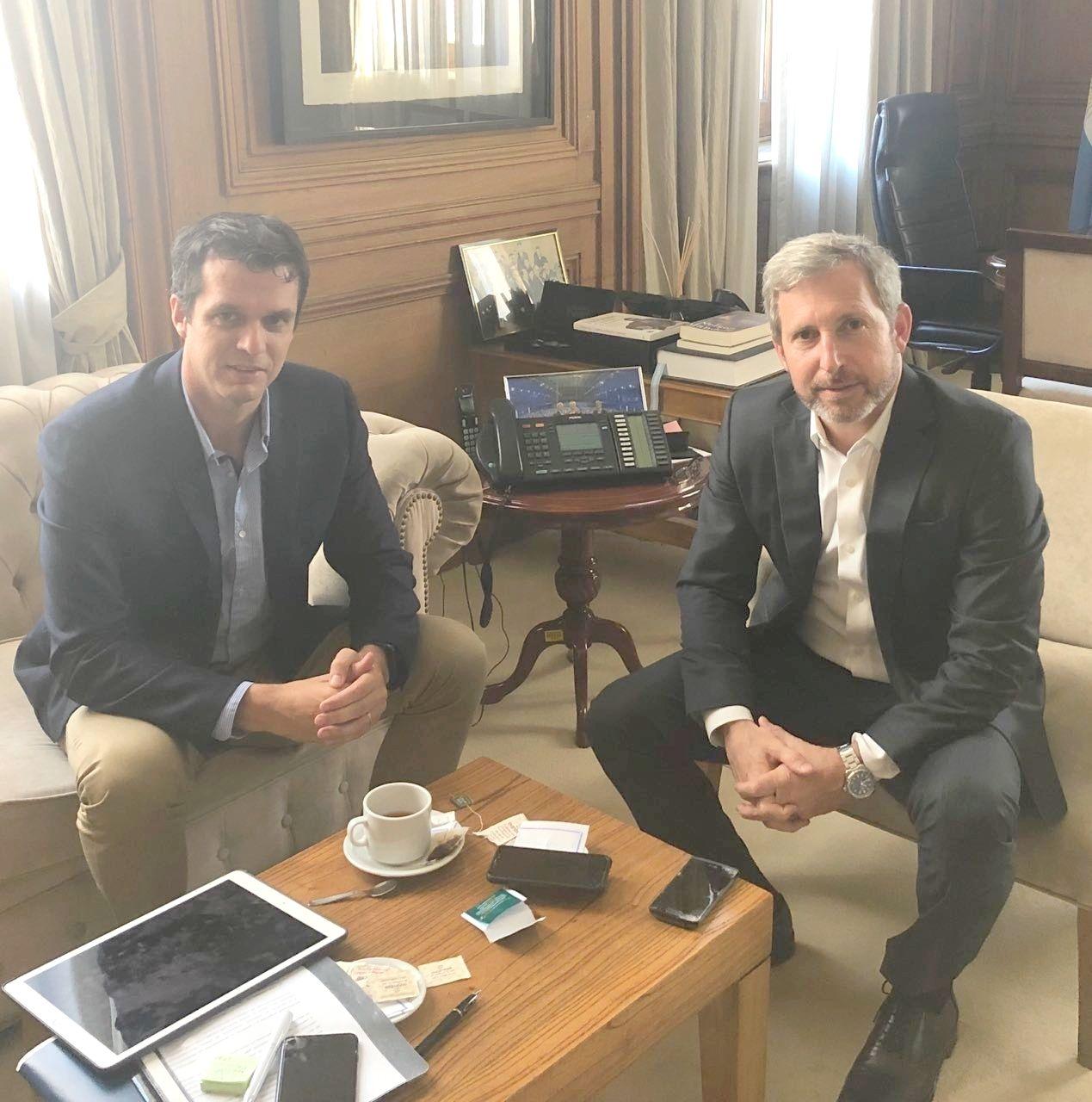 Cresto se entrevistó con Rogelio Frigerio