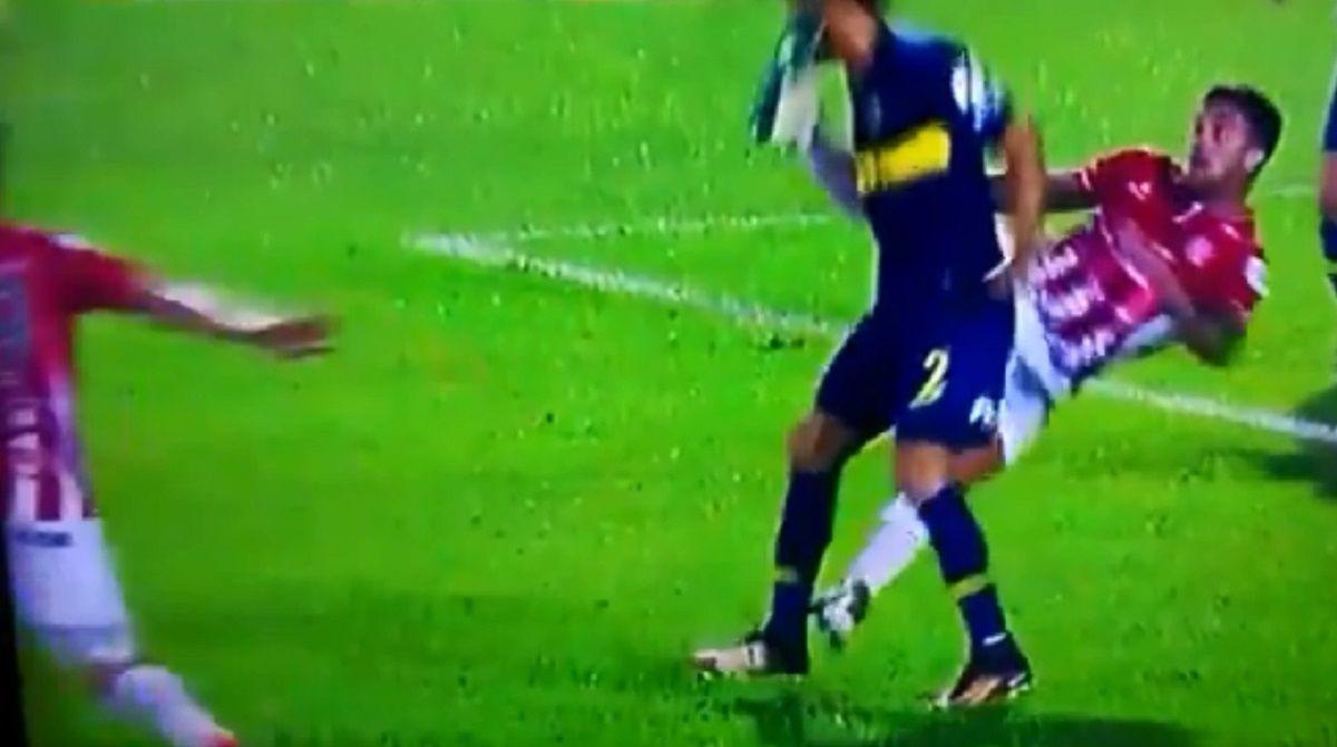 La patada a Goltz en la Copa Argentina