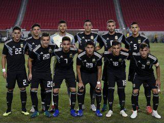 Así formaba Argentina para enfrentar a Guatemala en Los Ángeles