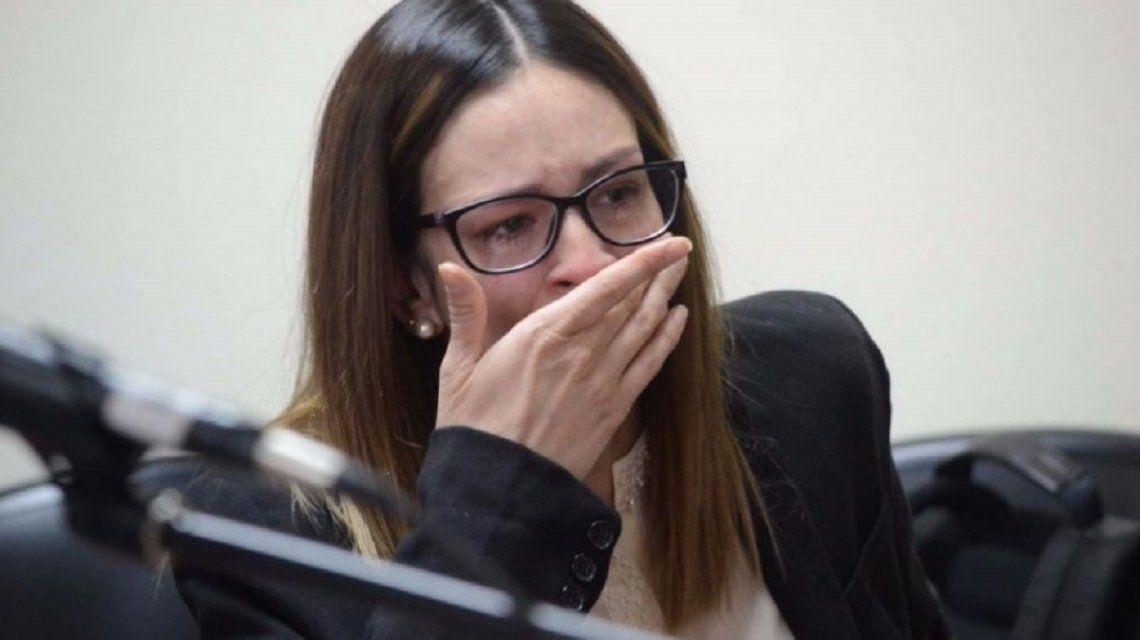 Julieta Silva llora al recibir sentencia