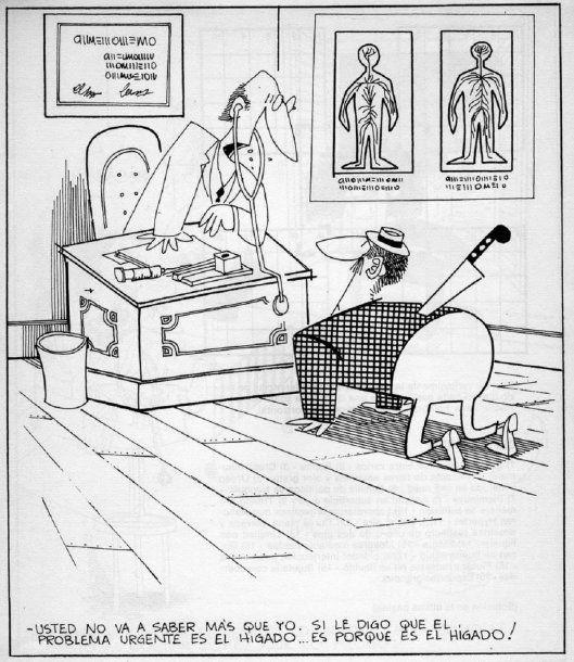 Caricatura de Garaycochea - Crédito: El Clostridium