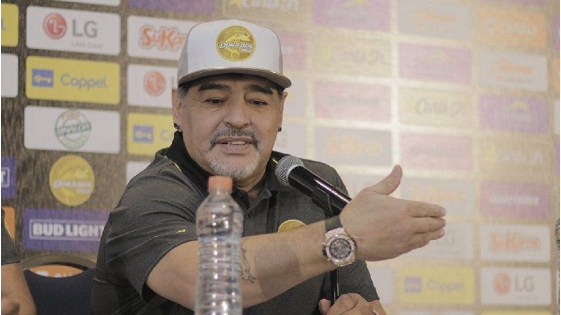 Diego Maradona en Dorados de Sinaloa - Crédito:@Dorados
