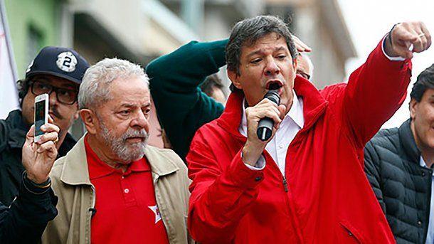 Lula Da Silva y Fernando Haddad<br>