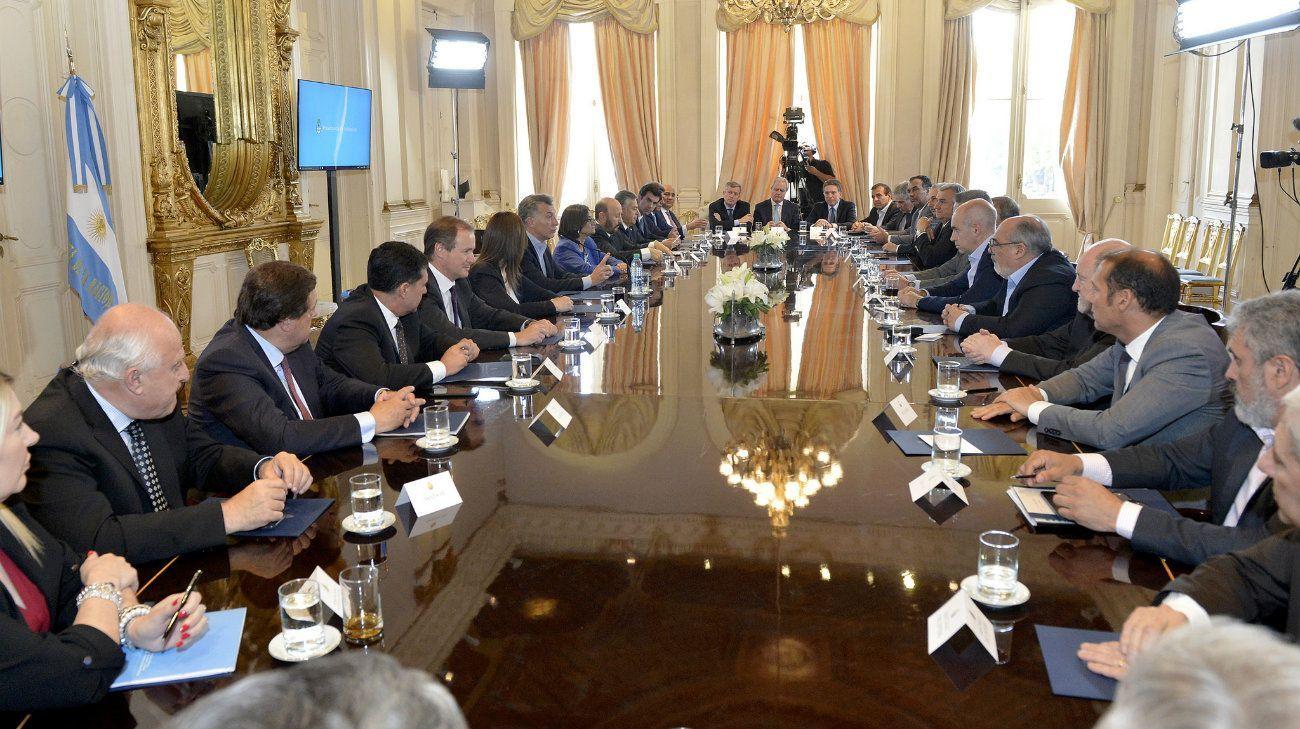 Macri con gobernadores en la Rosada