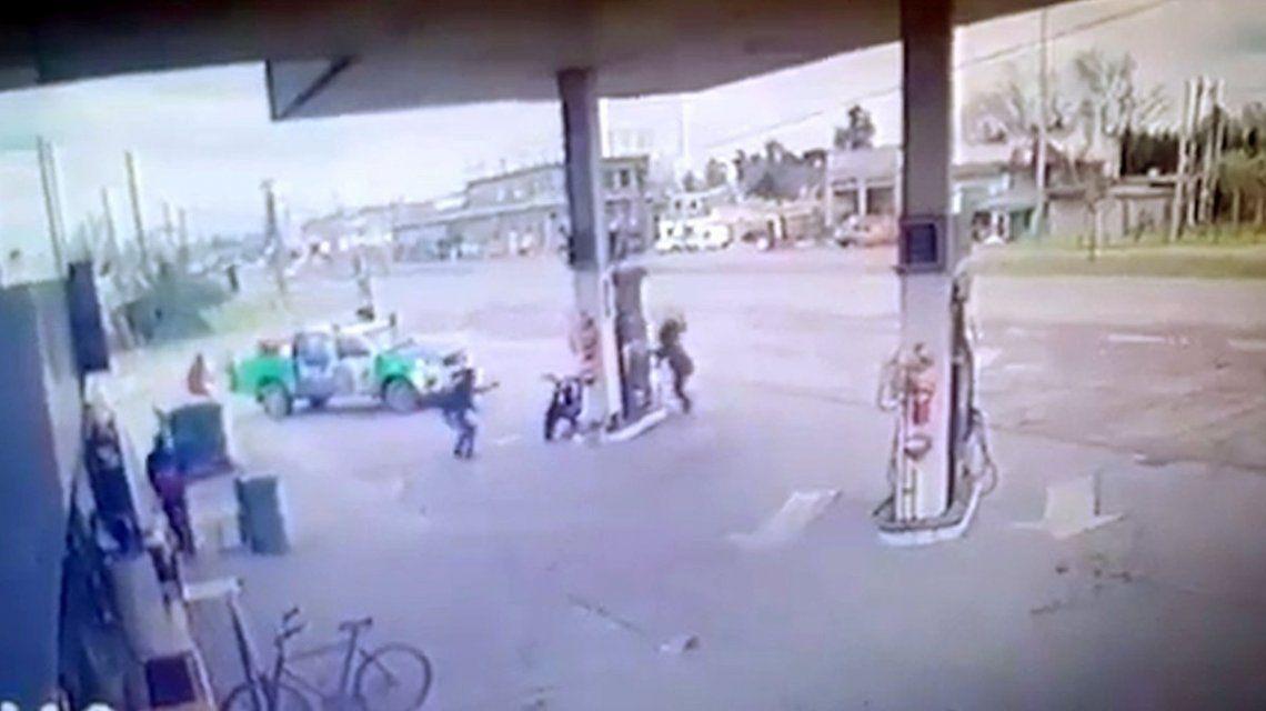 BS.AS.: Impactante tiroteo en una estación de servicio de Glew