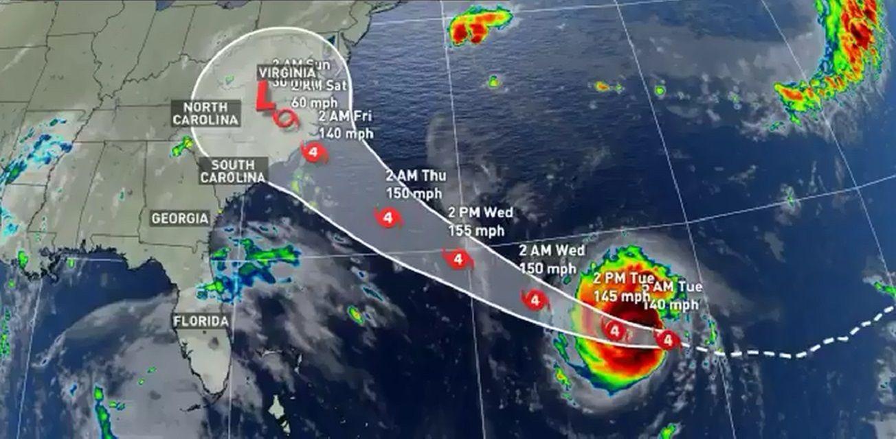 Florence ya está en la categoría 4 y se acerca a las Carolinas
