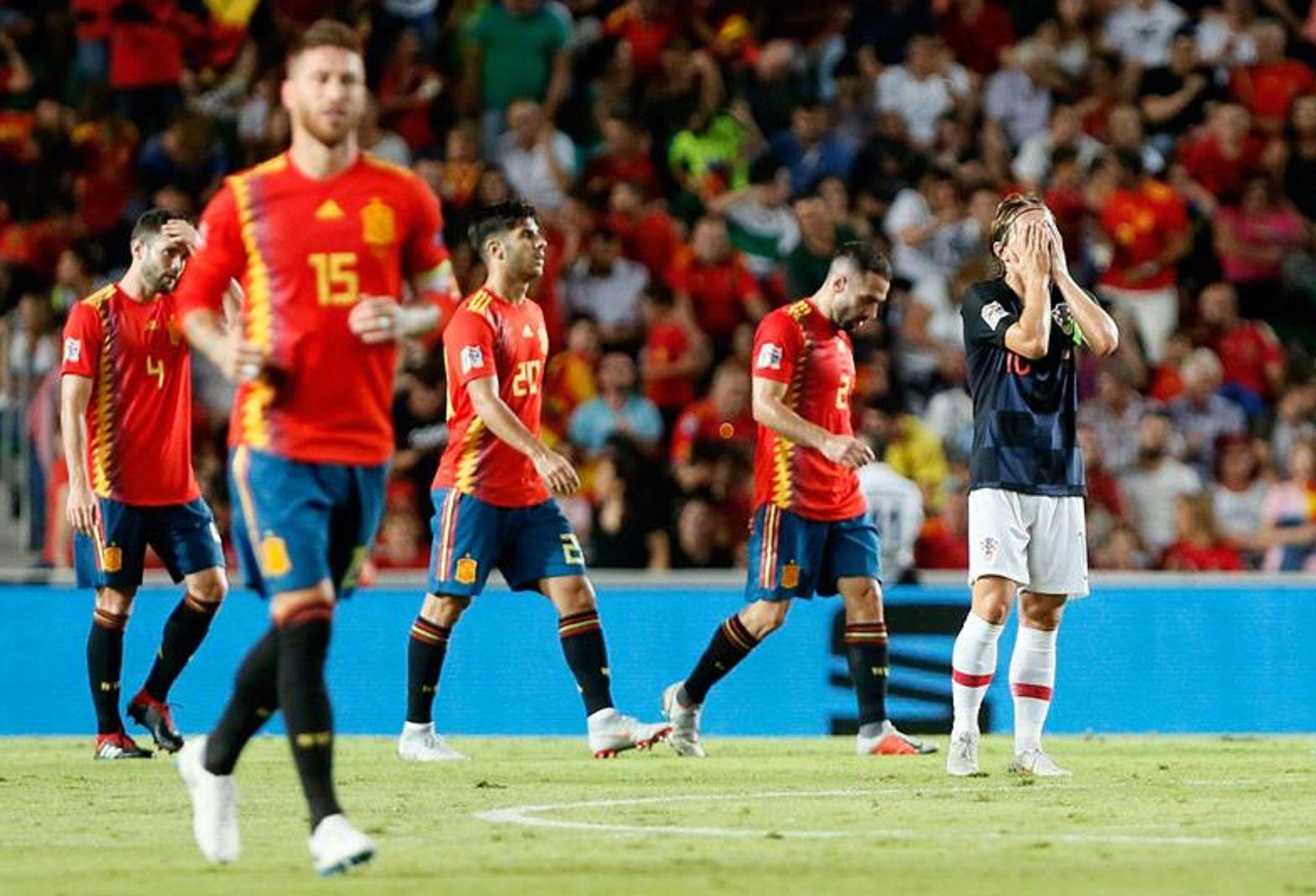 España le dio una lección de fútbol a Croacia