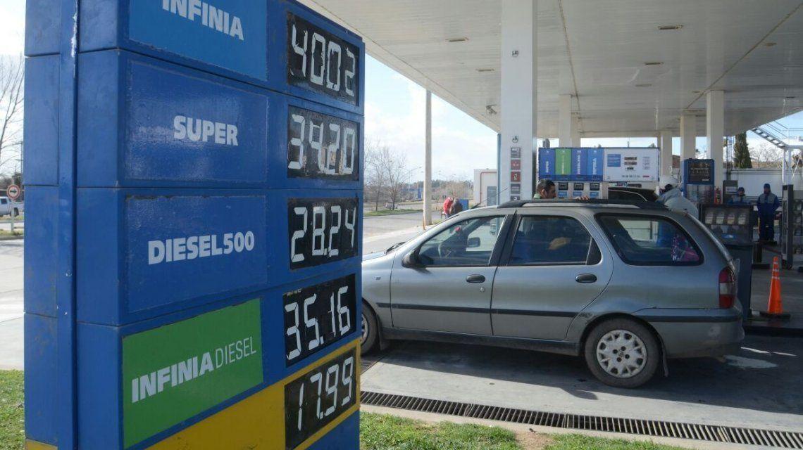 Aumento de naftas