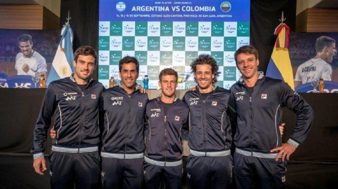 El equipo argentino de Copa Davis en San Juan