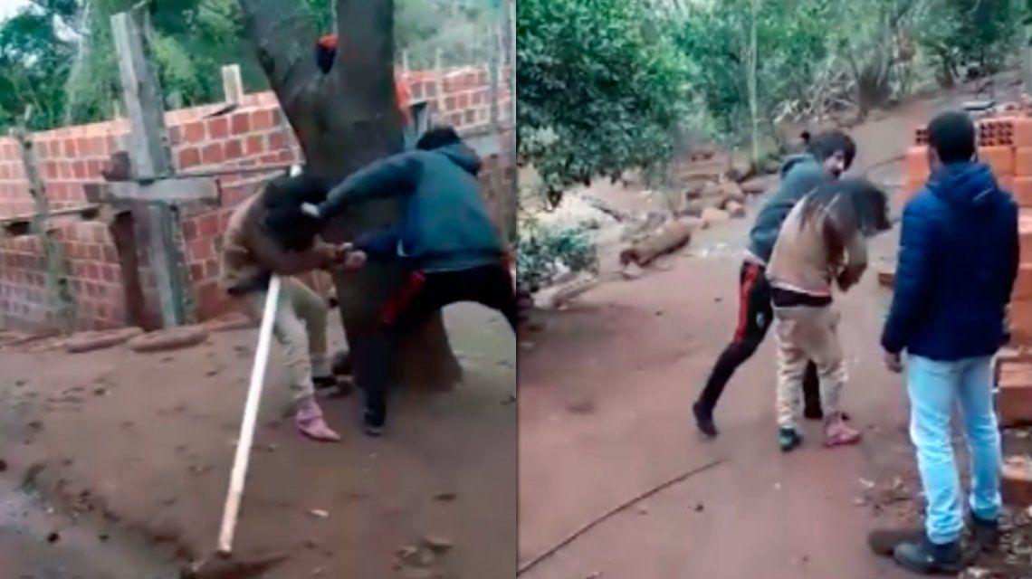 """MISIONES: Brutal golpiza de un hombre a su mujer: """"Ella no se va, acá se va a morir"""""""