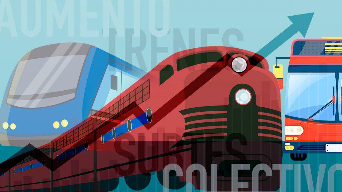 Entre este sábado y el martes suben colectivos, trenes y subte: cuánto te costará viajar a la Ciudad