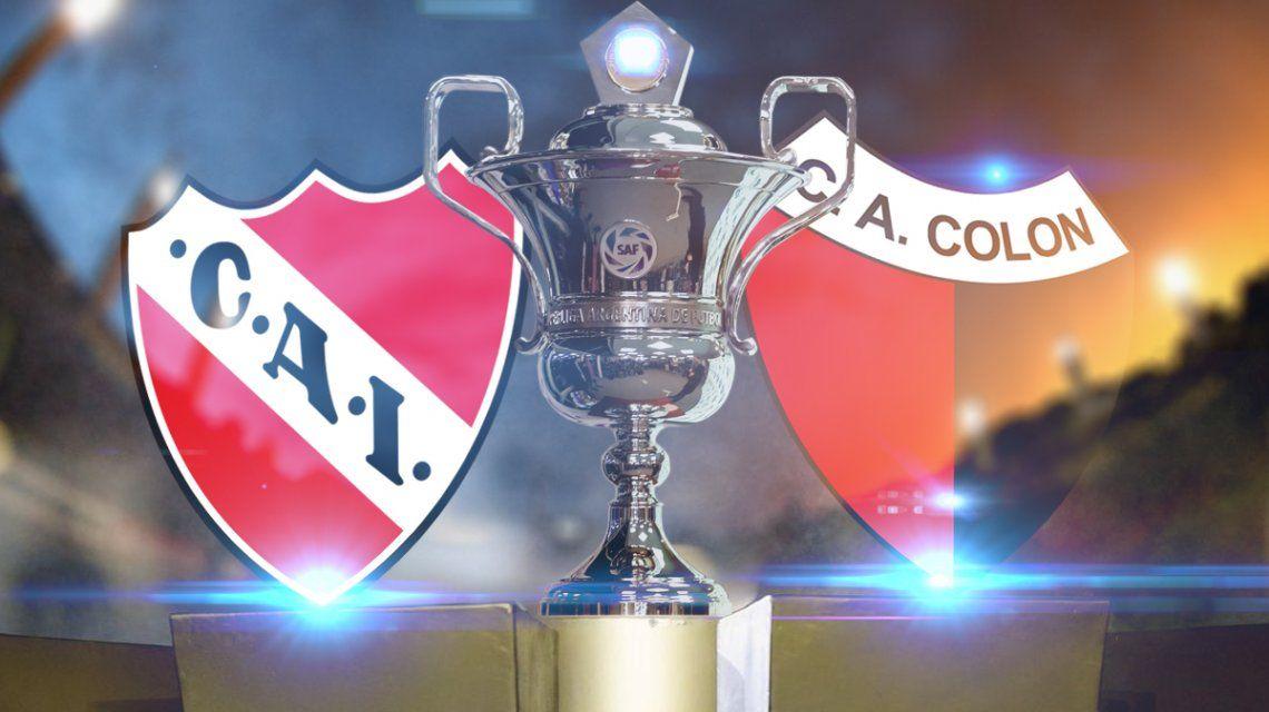 Independiente vs Colón: formaciones, horario y TV