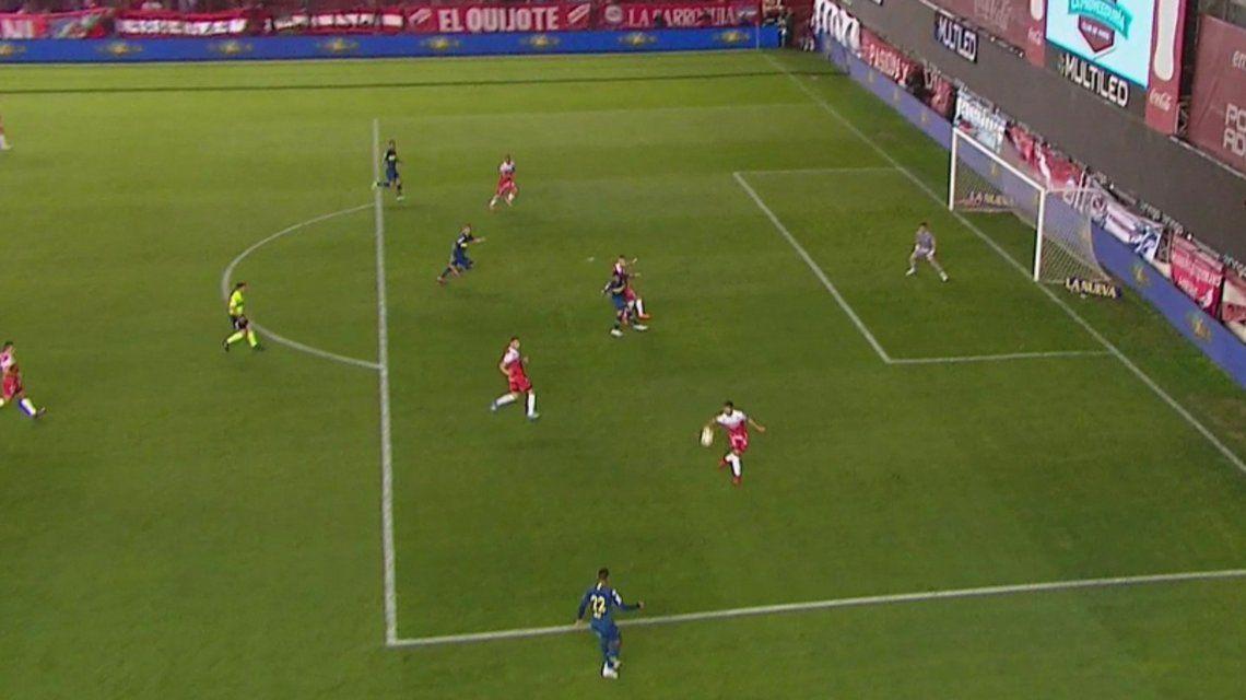 El clarísimo penal para Boca que el árbitro no cobró