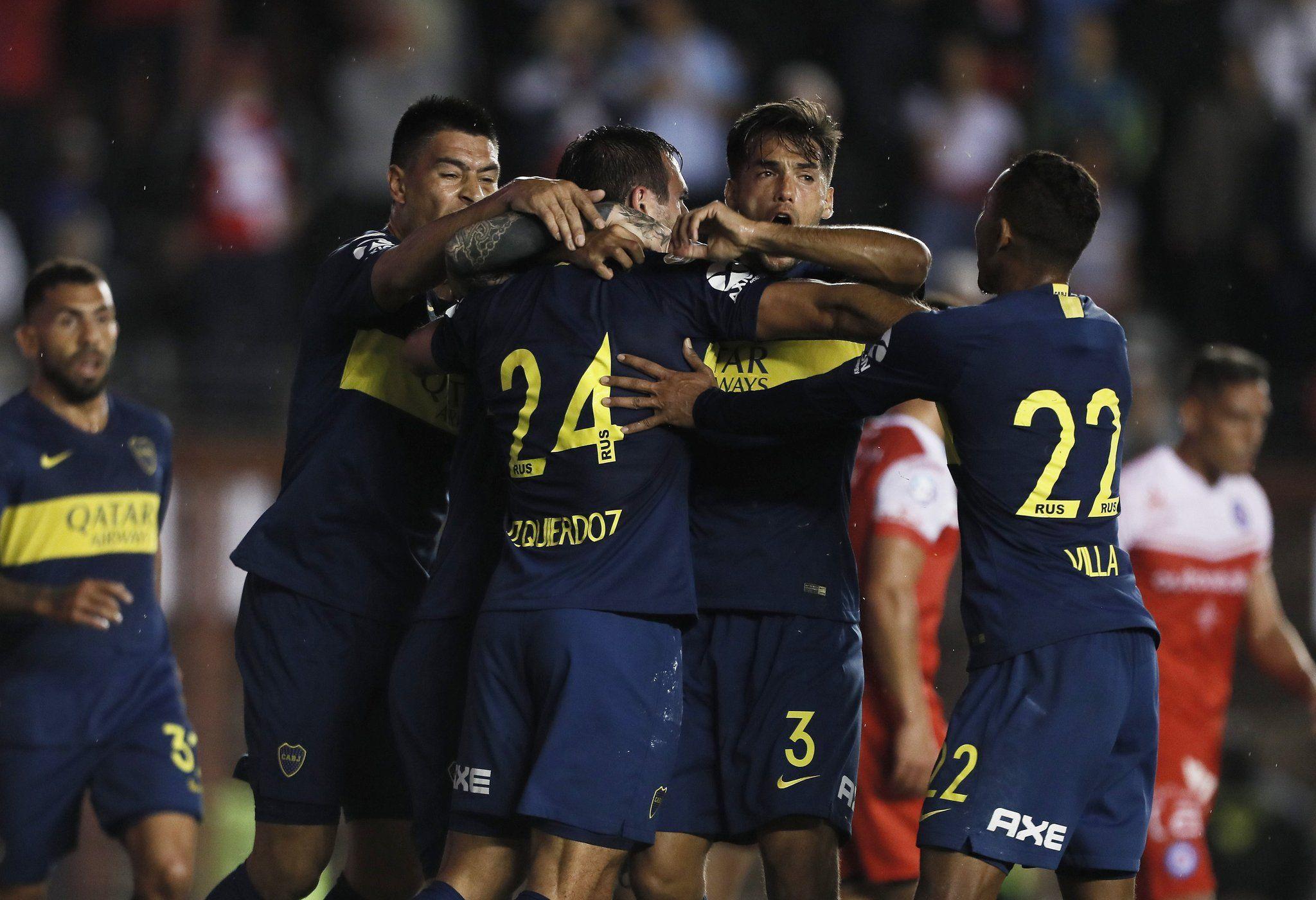 Gol de Izquierdoz en Boca - Crédito: @BocaJrsOficial