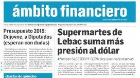 Tapas de diarios del lunes 17 de septiembre de 2018