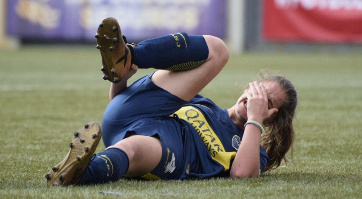 El dolor de Recanati (Foto: @BocaFutFemenino)