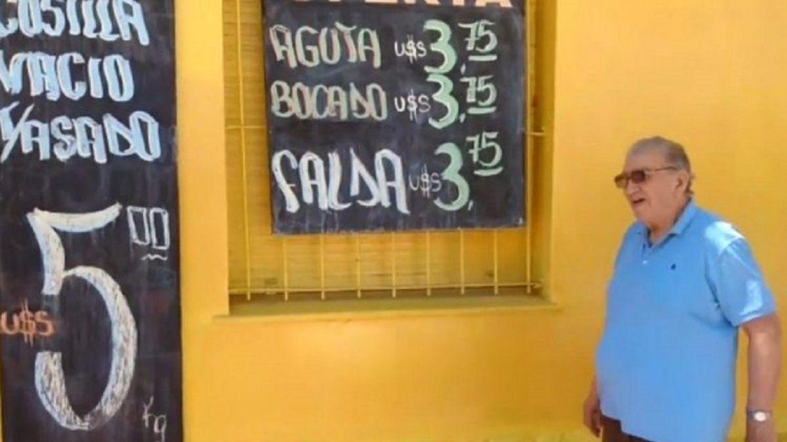 Insólito: un carnicero cordobés ofrece la carne a precio dólar