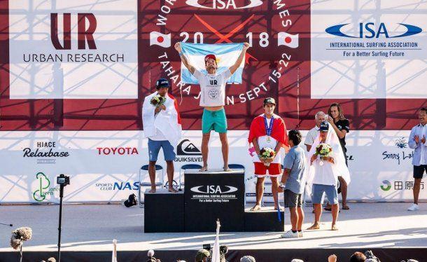 Muñiz, en lo más alto del podio. Venció al japonés Igarashi, la estrella del torneo y una de las top a nivel mundial. Y al peruano Lucca Mesina