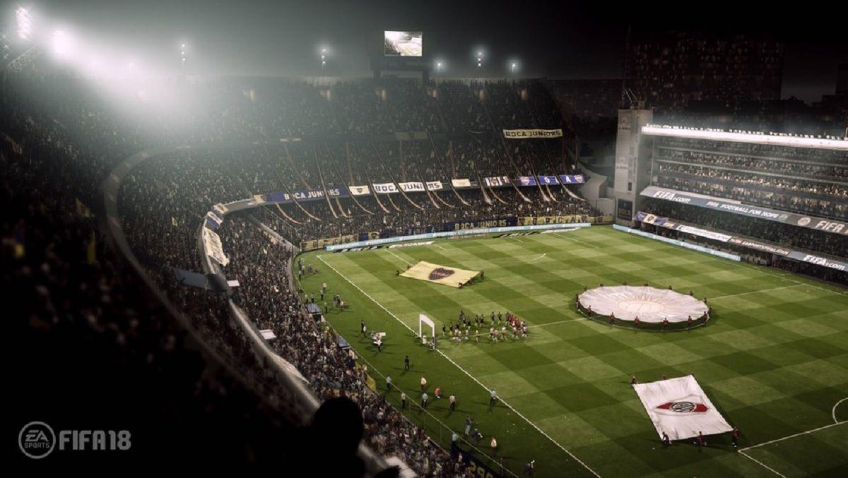 Así se veía La Bombonera en el FIFA 18. En la versión 19 no se podrá ver.