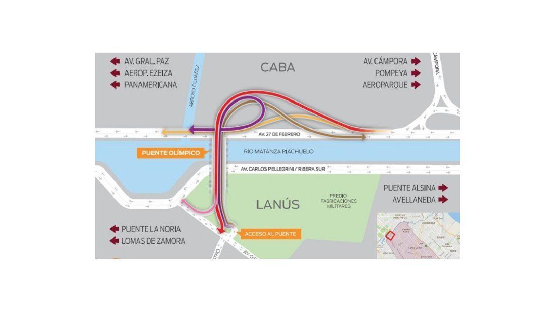 Puente Olímpico Ribera Sur