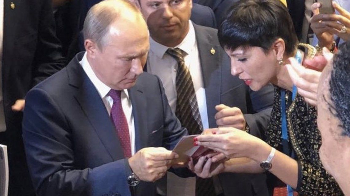 Mayra Mendoza denunció ante Putin que a CFK la quieren encarcelar