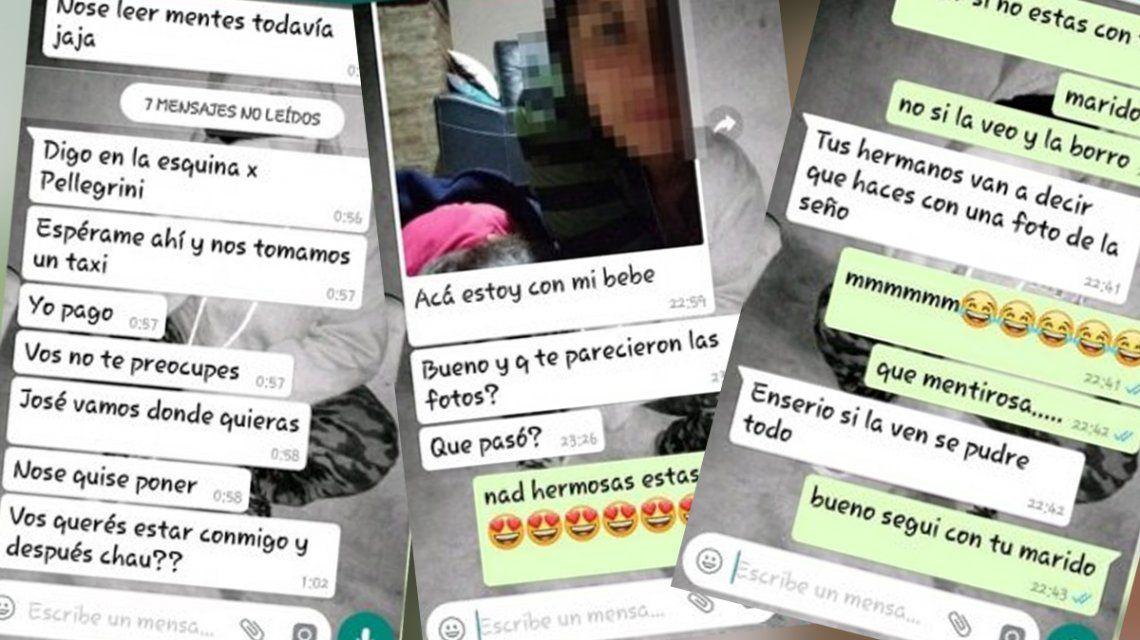 Estas son los chats que habrían tenido la docente y el alumno de 13 años