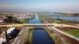 Las imponentes imágenes del nuevo Puente Olímpico Ribera Sur desde un drone
