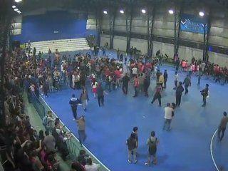 batalla campal en la final del futsal femenino entre san lorenzo y huracan