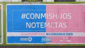 Este es el cartel que se vio en Rosario y Córdoba Capital