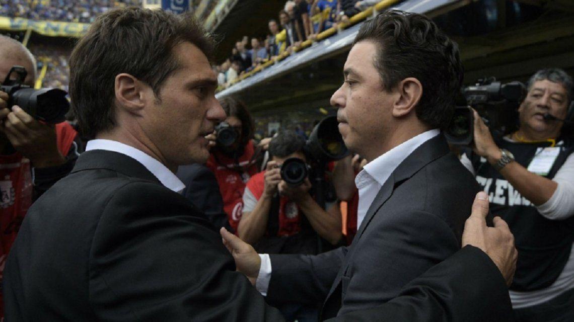 Los técnicos, mano a mano: ¿cómo está el historial entre Guillermo y Gallardo en Superclásicos?