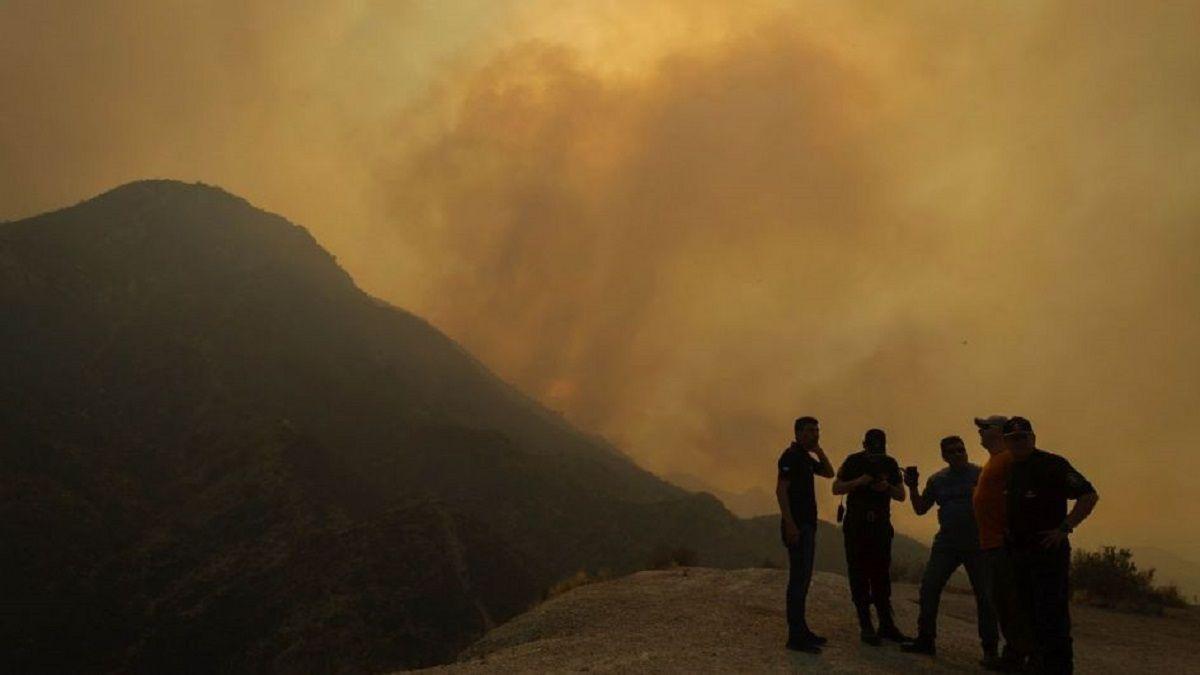 Incendio en Mendoza