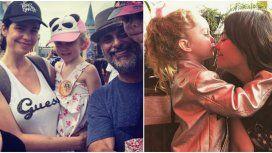 Rial y su familia ensamblada con Romina Pereiro.