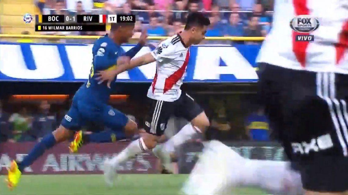 Caño y lesión: así fue la jugada que dejó al Pity Martínez sin Superclásico