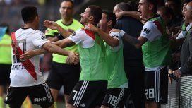 Gol de Pity Martínez para River en el Superclásico - Crédito: @CARPoficial
