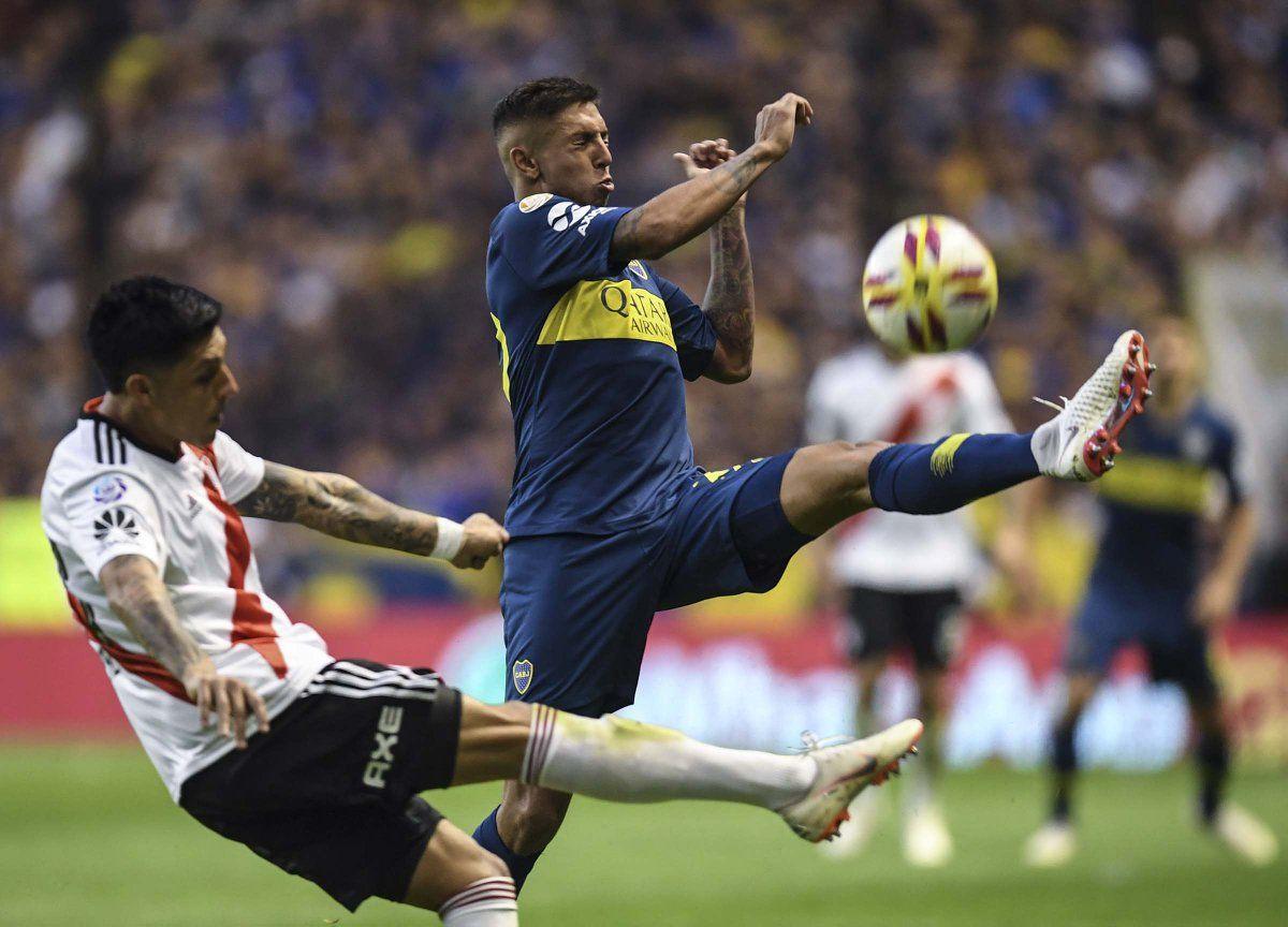 Enzo Pérez fue titular en La Bombonera