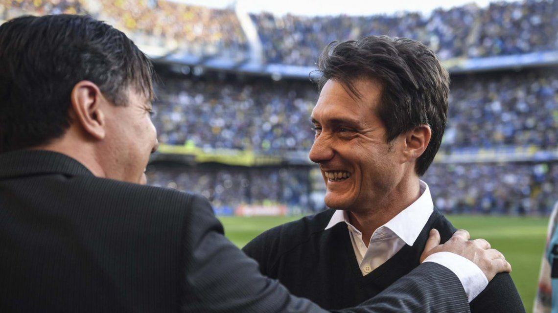 Guillermo y Gallardo se saludaron en la previa