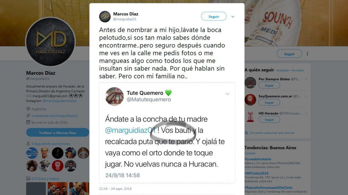 El tuit de Marcos Díaz