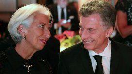 Mauricio Macri con Christine Lagarde