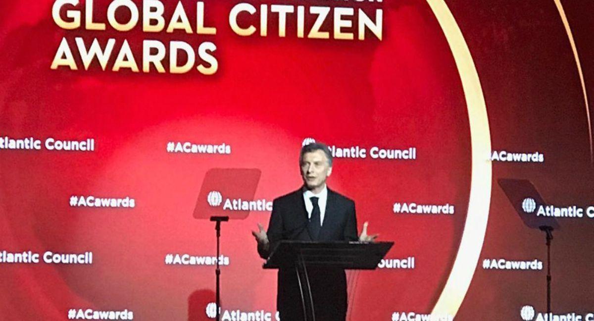 Mauricio Macri en el Atlantic Council