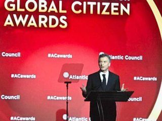 Mauricio Macri en el Atlantic Council