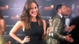 Luciana Rubinska ganó como mejor periodista deportiva
