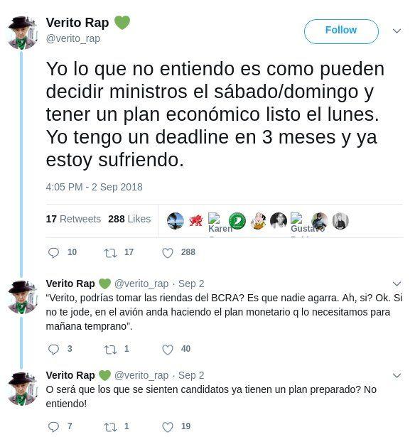 El pasado tuitero que condena a las nuevas autoridades del Banco Central