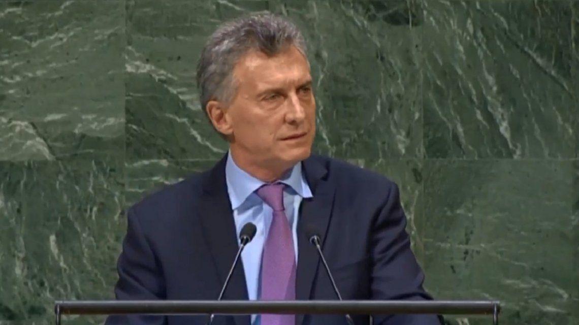 Venezuela, lucha contra el terrorismo y Malvinas: los ejes del discurso de Macri en la ONU