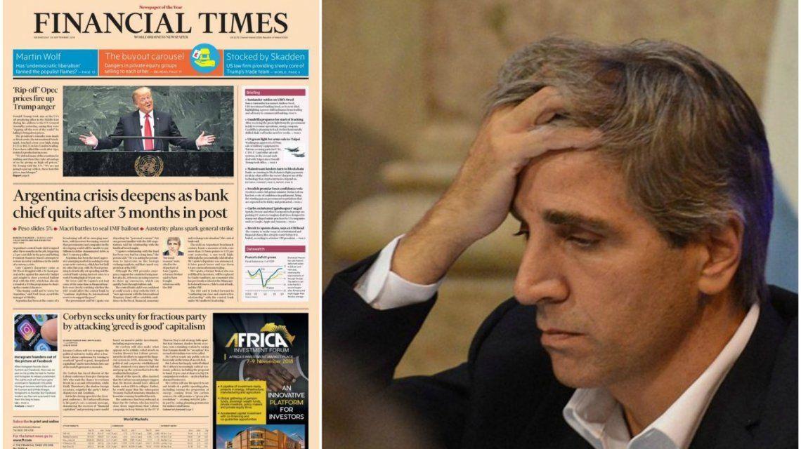 Financial Times y Luis Caputo