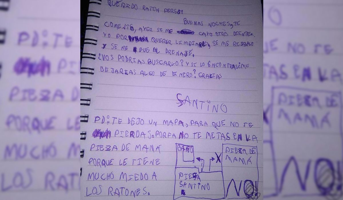 La tierna carta de un nene de 6 años al Ratón Pérez